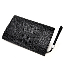 Wei's Men Fashion Credit Card Purse Long-size Wallet Multi-function Zipper Hand Bag Men's Handbag fdk1018 Black