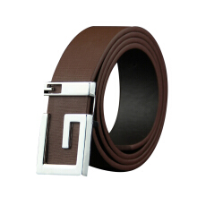 Dandali Original imported Korean men's belt smooth buckle imitation leather belt