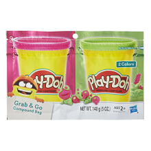 PLAYDOH Grab N Go Compound Bag Pink And Green PDOE2242