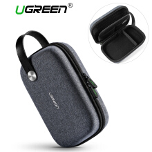 UGREEN Multi-function Digital Storage Data Cable Storage Bag Waterproof HDD Case Charger Headphone Storage Box Travel Storage Package Grey