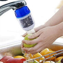 Farfi Easy Activated Bamboo Charcoal Water Faucet Tap Filter Water Purifier