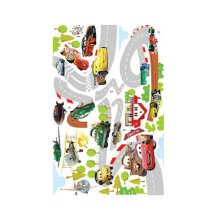 [kingstore] Unique Cartoon Car Stickers Children Room Decoration Removable PVC Stickers Multicolor