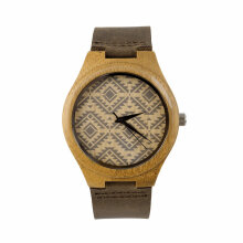 COZIME Vintage wooden dial watch brown quartz watches Men Women Couple Watch Black