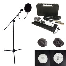 Microphone Kabel Stand Mic Pop Filter Mikrofon Cover (4 pcs) WHT