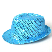 Anamode LED Sequined Fedora Jazz Hat Luminous Dance Hat Hip Hop Hat -Onesize -