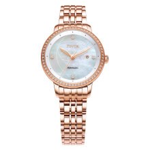 FIYTA WLA805002.PWPD Ladies Mother of Pearl Dial Rose Gold Stainless Steel Strap [WLA805002.PWPD]