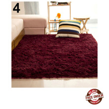 Farfi Living Room Bedroom Home Anti-Skid Shaggy Fluffy Area Rug Carpet Floor Mat