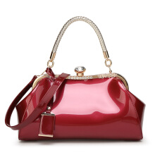 SiYing Fashion patent leather handbags shoulder diagonal bride bag