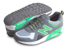 RECORD Air Trax Sepatu Men Running Shoes Abu Tua/ Hijau