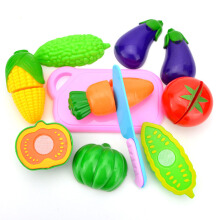 BL 8pcs Toys Play House Simulation Kitchen Cooking Kit Dinner Fruit Snacks -Multicolor