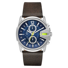 Diesel DZ4424 Mega Chief Analog Men Blue Dial Brown Leather Strap [DZ4424]