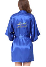 Jantens Bridesmaid robes Sleepwear Robe Wedding Bride Bridesmaid Robes Pyjama Robe Female nightwear Blue