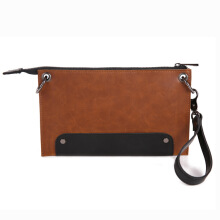 SiYing Imported original Casual Men's Bag New Clutch Bag Wild Men's Sling Bag Brown