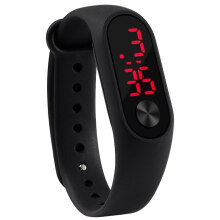 jam tangan pria wanita rubber band LED sport fashion casual jam