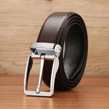 Vojoyce-Ikat Pinggang Pria-Genuine Leather Luxury Strap Male Belts