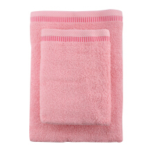 JOYHOME Towel By Terry Palmer Cotton Candy Set of 2/360gr (Bath 70x30cm&Travel 50x90cm)-Pink