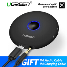 Ugreen Bluetooth 4.2 Receiver/Transmitter 2 in 1 Wireless 3.5mm Adapter aptX HIFI Low Latency 2 Devices For TV /PC/Home Audio System