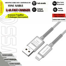 GOLFSPACE 1M Lightning Cable, Lightning to USB  Fast Data Sync Charger Cable GC40I