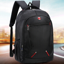 Wei's select fashion men's wear-resistant waterproof computer backpack hot trend computer backpack B-DSY054 Black