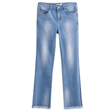 INMAN 1882334635 Pant Chic Style Women Fashion Blue Color Jeans Casual Pant