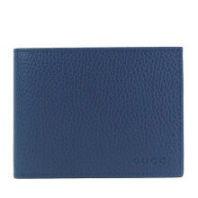 GUCCI Men's Dark Blue Signature Leather Wallet 217041 CAO0G 4246 Navy Blue