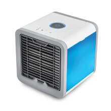 COZIME Mini Air Conditioner Cooler with 7 Colors LED Lights Air Humidifier Purifier White