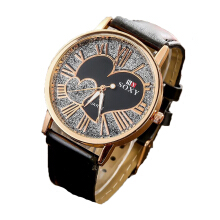 BANGLONG Romantic Double Love Hand Watches Leather Strap Watch -Onesize -RoseGold