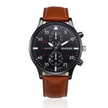 jam tangan pria fashion casual bisnis leather band sport jam