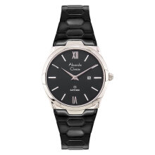 Alexandre Christie AC 8542 LD BCABA Ladies Black Dial Black Stainless Steel Strap [ACF-8542-LDBCABA]