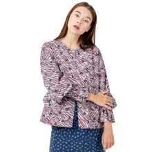 IKAT Indonesia Mickey Special 90 Blouse WO01 - Grey