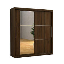 Prissilia Rhinos Wardrobe Sliding Doors Brown Wallnut