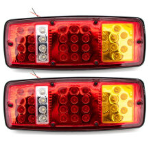 Automobile Colorful LED Taillight Warning Traffic Beacon Signal Lights 12v