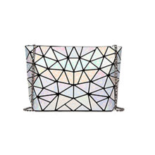[LESHP]Foldable PU Geometric Rhombus Raindrop Pattern Single Shoulder Bag Handbag Others