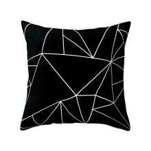 Farfi Black and White Geometric Peach Skin Throw Pillow Case