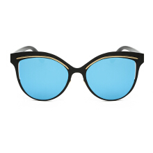 XQ-HD Cat Eye Sunglasses Unisex Big Frames Eyeglasses -Onesize - Mercury Blue Lens