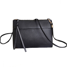 Farfi Faux Leather Messenger Zipper Bag