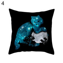 Farfi 18 Inch Square Soft Pillow Case Sofa Cushion Cover Home Bathroom DIY Decor