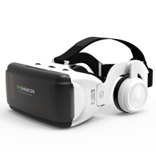 Blitzwolf VR Shinecon SC-G06E Box Headset Virtual Reality 3D VR Glasses with Headphone for Mobile Phone   -  -