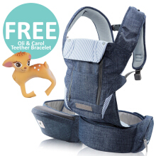 Pognae No. 5 Plus Hipseat and Baby Carrier	Denim Blue