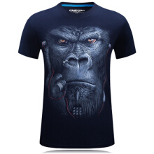 Ta To New Fashion Womens/Mens T-shirt O-Neck Short Sleeved 3D Print Funny Monkey Cotton Casual Tees Tops Plus Size