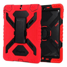 Vaping Dream -  Ipad 5 / Ipad Air PEPKOO Cover dengan Kickstand dan Sticker Spider Black and red