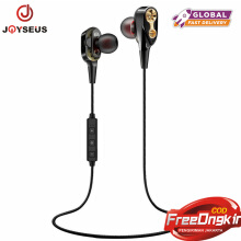 JOYSEUS XT21 Double Dynamics Bluetooth Earphone Dual Driver With Mic Bass headset with Mic Stereo Headphones for Phone Sport