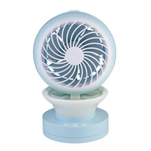 Portable Mini Fan USB Charging LED Light Misting Spray Humidifier Cooling Fan Blue