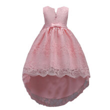 Summer Children Girls Outfits Sleeveless Lace Dress with Bowknot Party Dress 120cm