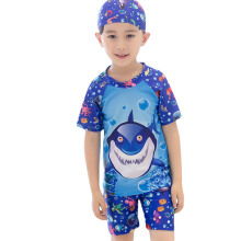 SBART 2-13Y Kids Boys Swimsuit Summer Child Swim Trunks Bathing Suit Swim Beach Wear (Hat+Shorts+Tops)