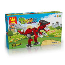 Wange Bricks 26111 Dinosaurus Park Red Black