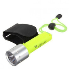 [COZIME] T6 Super Bright 18650 LED Lamp Diving Flashlight Waterproof Green
