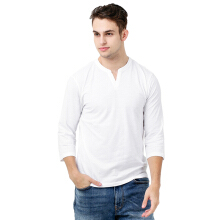 FACTORY OUTLET UG1802-0008 Mens T-Shirt 3/4 Sleeve - White