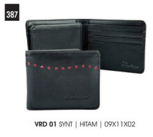 EVERFLOW - DOMPET / WALLET KASUAL PRIA - VRD 01 - Hitam