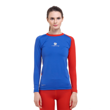 Tiento Baselayer Manset Rashguard Compression Tiento Long Sleeve Blue Red